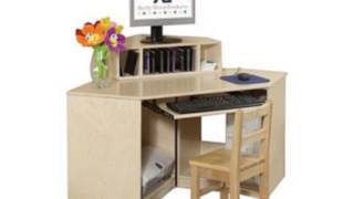 Corner Computer Table With Keyboard Shelf (home)