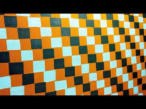 Wall texture painting design 3 colour combination techniques ideas.. intzar Malik