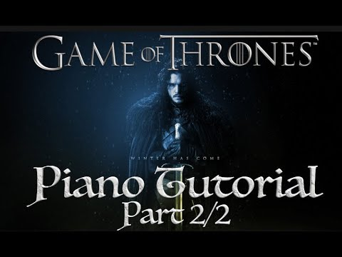 Game Of Thrones Theme - Piano Tutorial Part 2/2 - Cours de piano Eric Legaud thumbnail