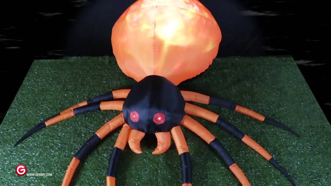 Fire & Ice Spider Animated Airblown Inflatable Gemmy