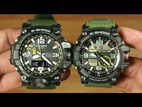 36cade65408 Casio MUDMASTER GWG-1000-1A3 VS GG-1000-1A3   Head to head - YouTube