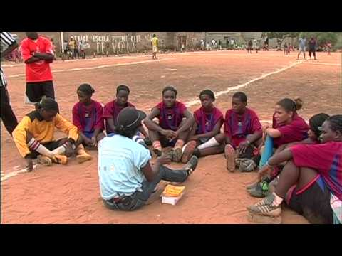 In Angola, UNICEF-supported programmes spread HIV awareness through sports
