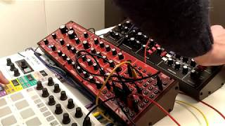 Jamuary#01 - Behringer Neutron and Behringer Model D sequenced by Arturia's Beatstep Pro