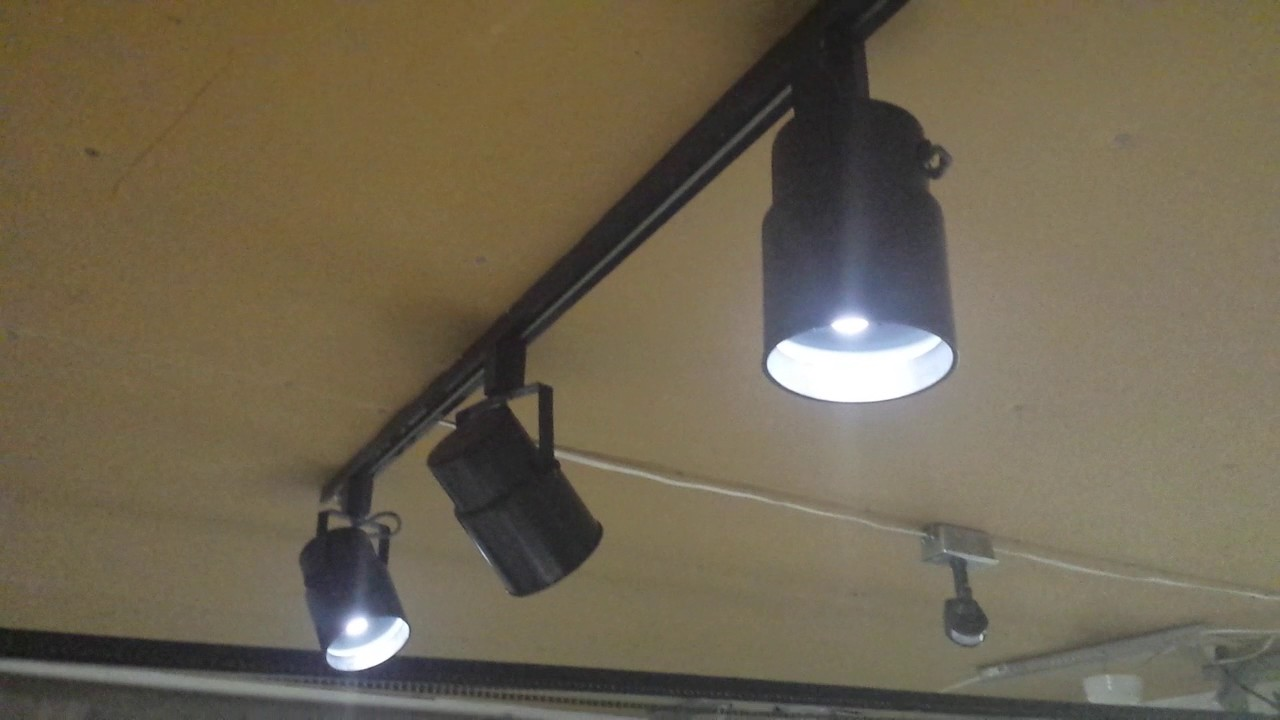 vintage track lighting. Adding Vintage Track Lights To My Garage Lighting C