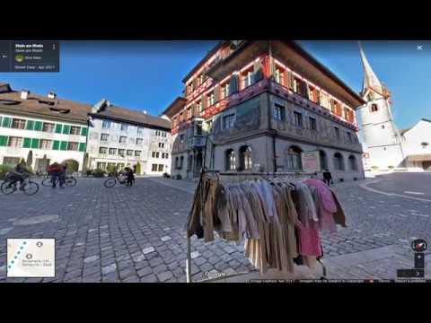 Switzerland Map tour The town of Stein am Rhein in the Rhine River