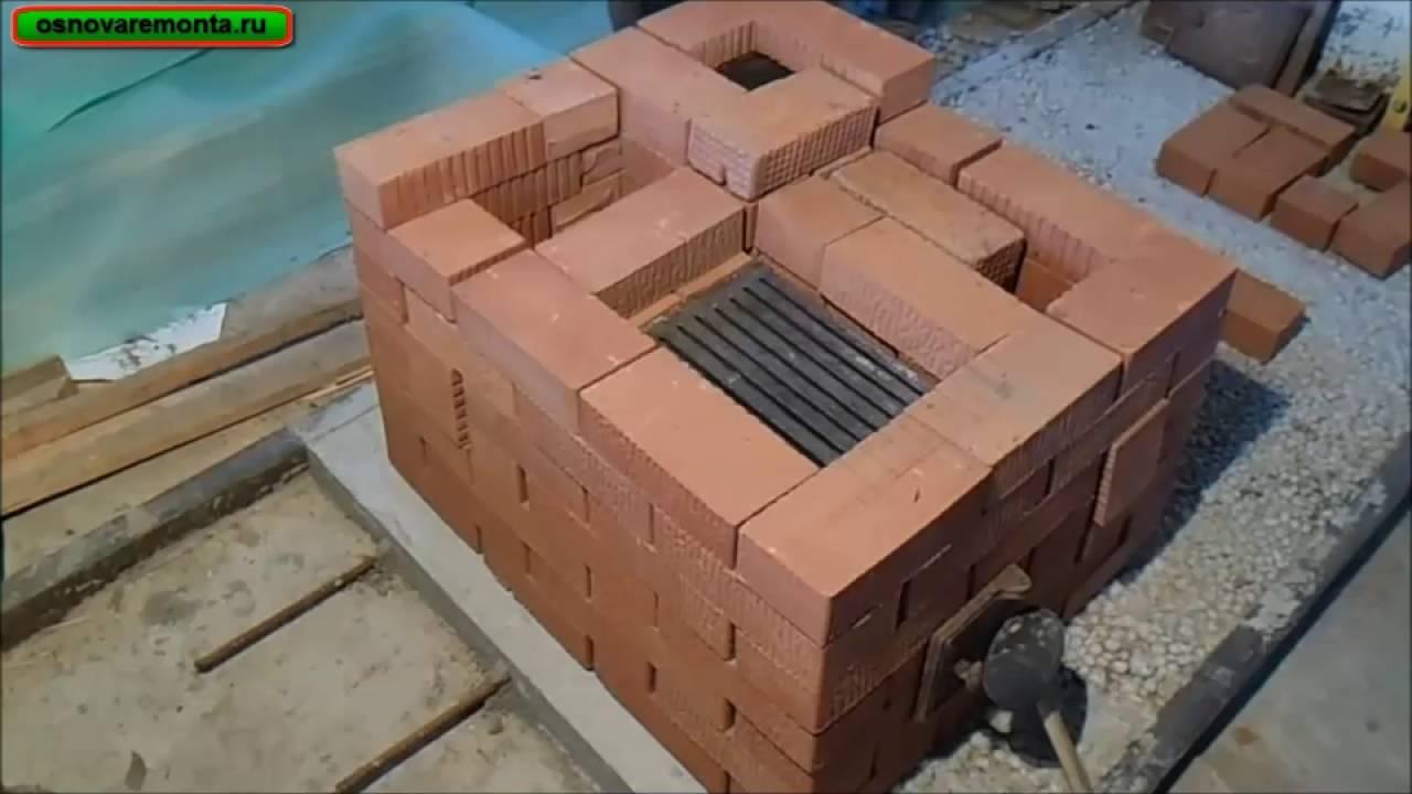Подробная кладка печи за 9 тыс. руб. 1-часть.