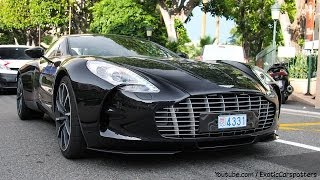 Aston Martin ONE 77 - Driving in Monaco | Combos | Full Detail - 1080p HD