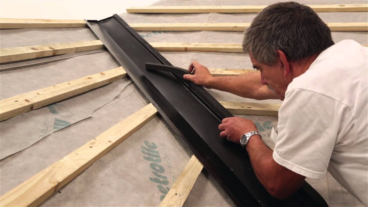Fixing Installing Lightweight Roofing Valley With