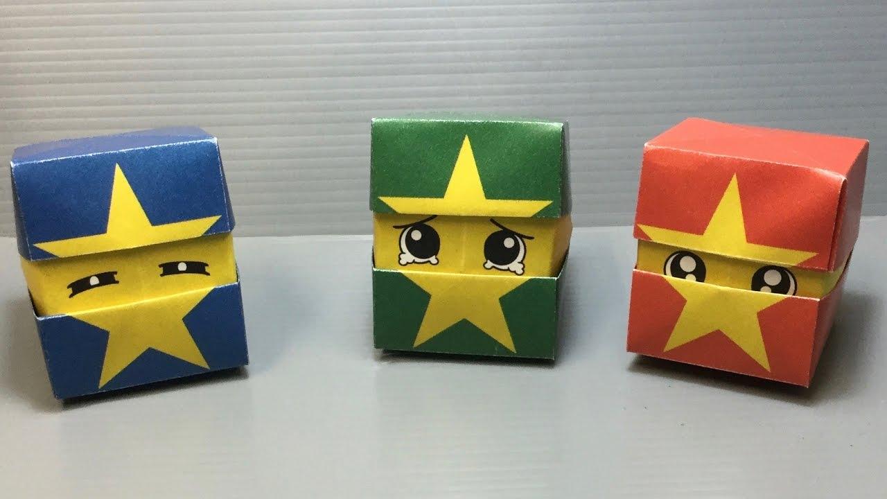 Closed Origami Cube Box Instructions - DIY - Paper Kawaii - YouTube | 720x1280