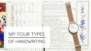 Handwriting for Studying // 4 Types