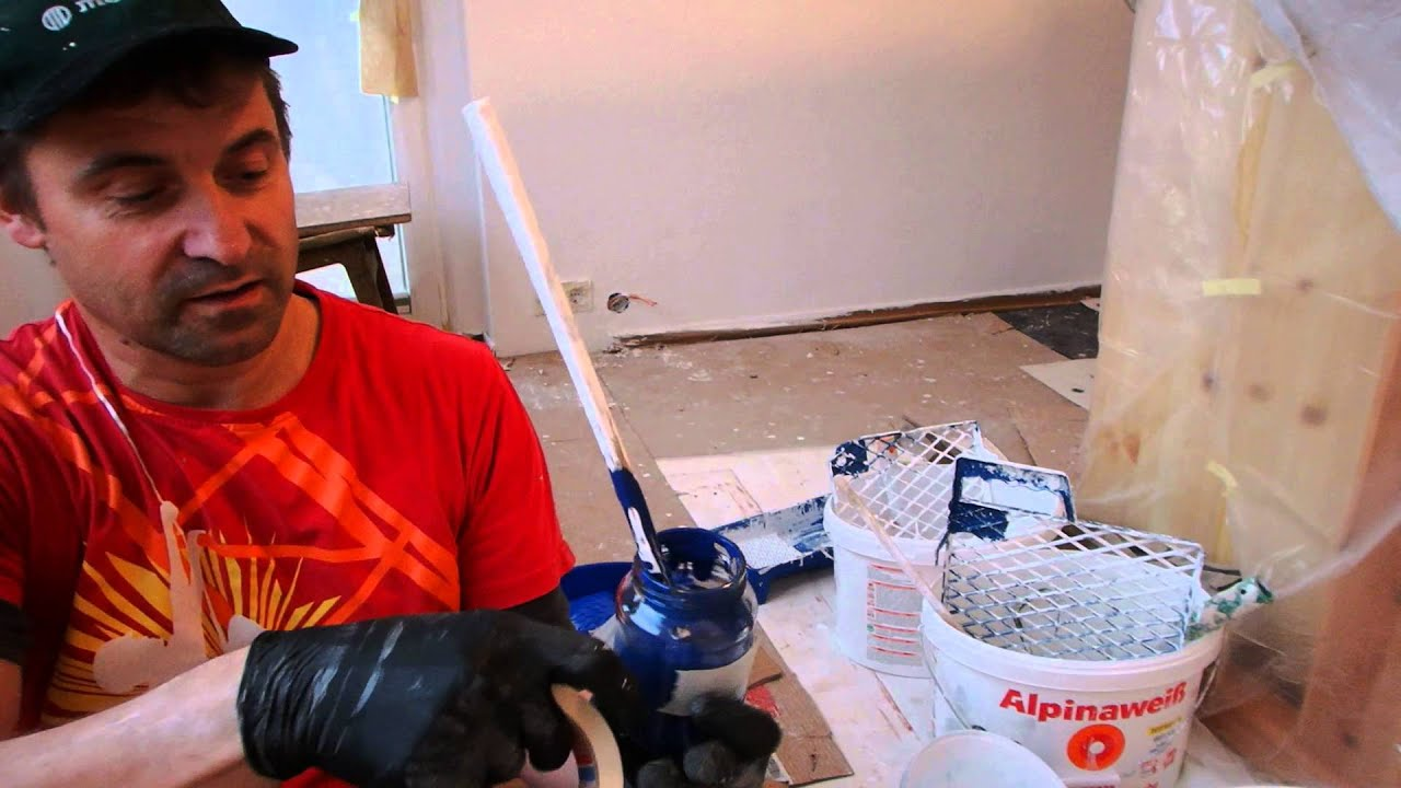 selber renovieren farbe selber mischen 1 2 youtube. Black Bedroom Furniture Sets. Home Design Ideas