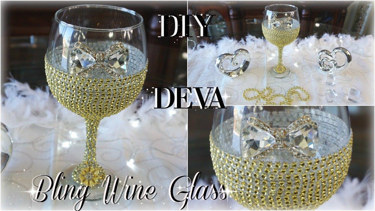 Diy Bling Wine Glass 50th Birthday Diy Bride Bridal