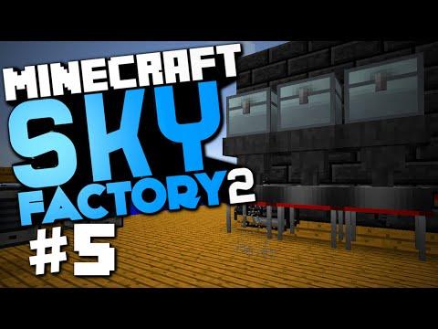 "Minecraft Sky Factory 2 #5 ""Auto Sieve, Furnace Generators, 9x9 Smeltery"" w/ @CaffeineRich"