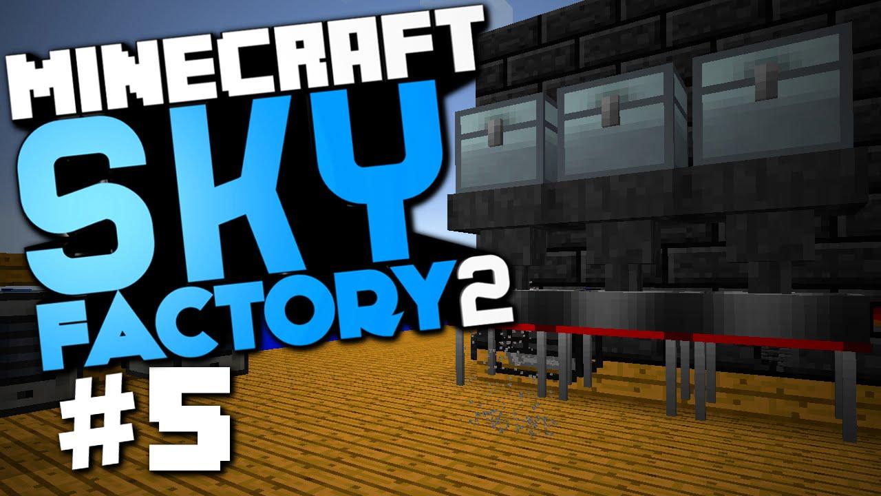 "Minecraft Sky Factory 2 #5 ""Auto Sieve, Furnace Generators, 9x9 Smeltery"" w/ @CaffeineRich - YouTube"
