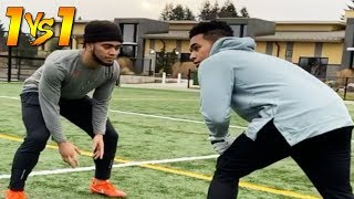 THIS MOVE ENDED HIS CAREER! (1ON1'S VS D1 FOOTBALL PLAYER)