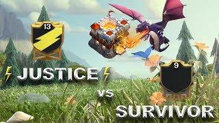 JUSTICE vs Survivor | Clash of Clans