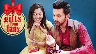 kaleerein stars aditi sharma arjit taneja receive gifts from fans telly reporter exclusive