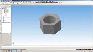 побудова гайки під ключ 34мм в 3D в КОМПАС-3D
