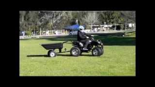 Elstar Atv Trailer Ride On Lawn Mowers Poly Tray Wheelbarrow Garden Cart