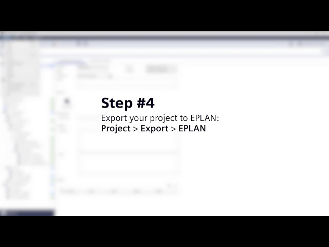 From TIA Selection Tool to EPLAN in 6 steps