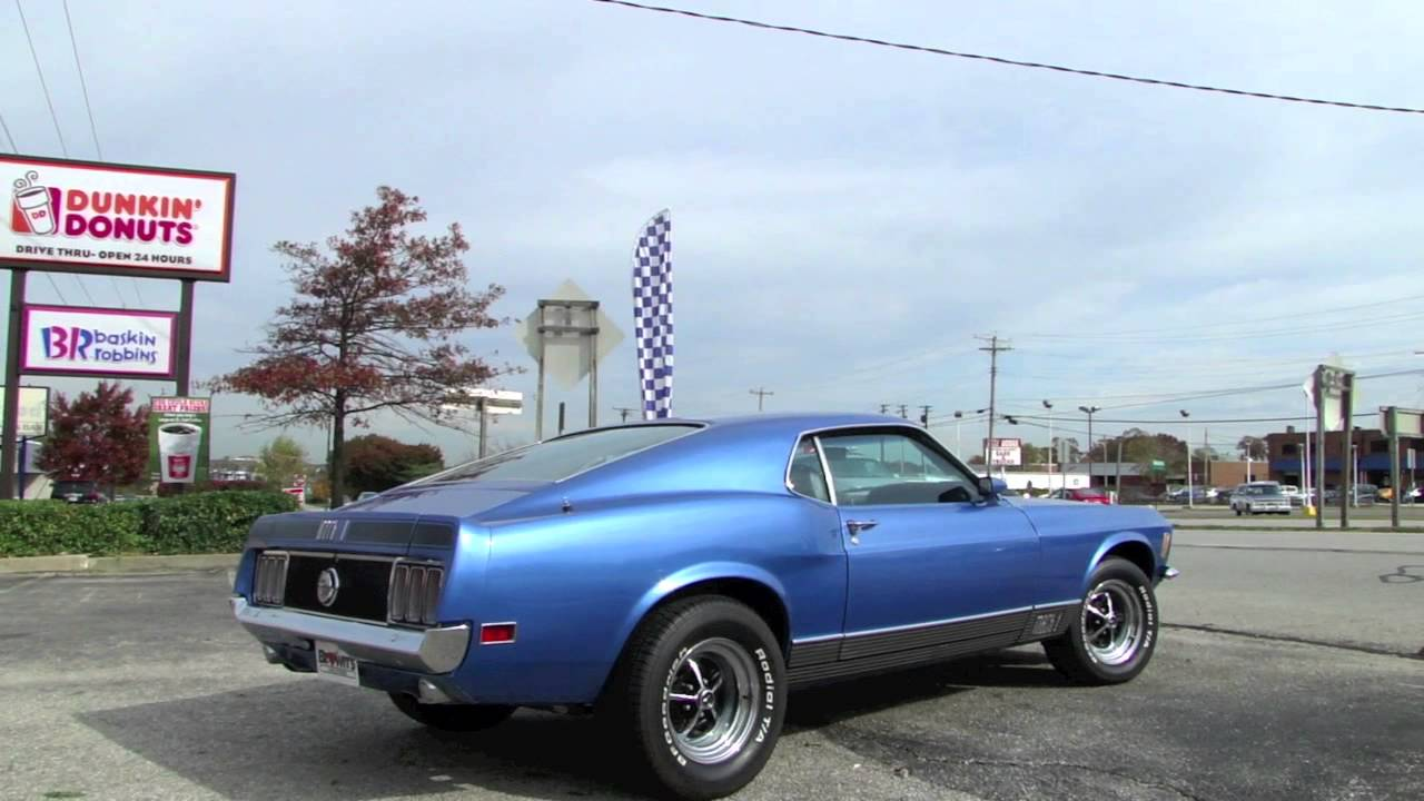 For Sale 1970 Ford Mustang Mach 1 Driving - YouTube