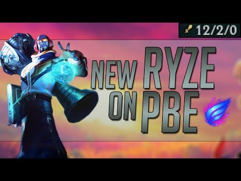 NEW INHUMAN RYZE ON PBE SECOND FULL GAME - SOLO WIN THE GAME