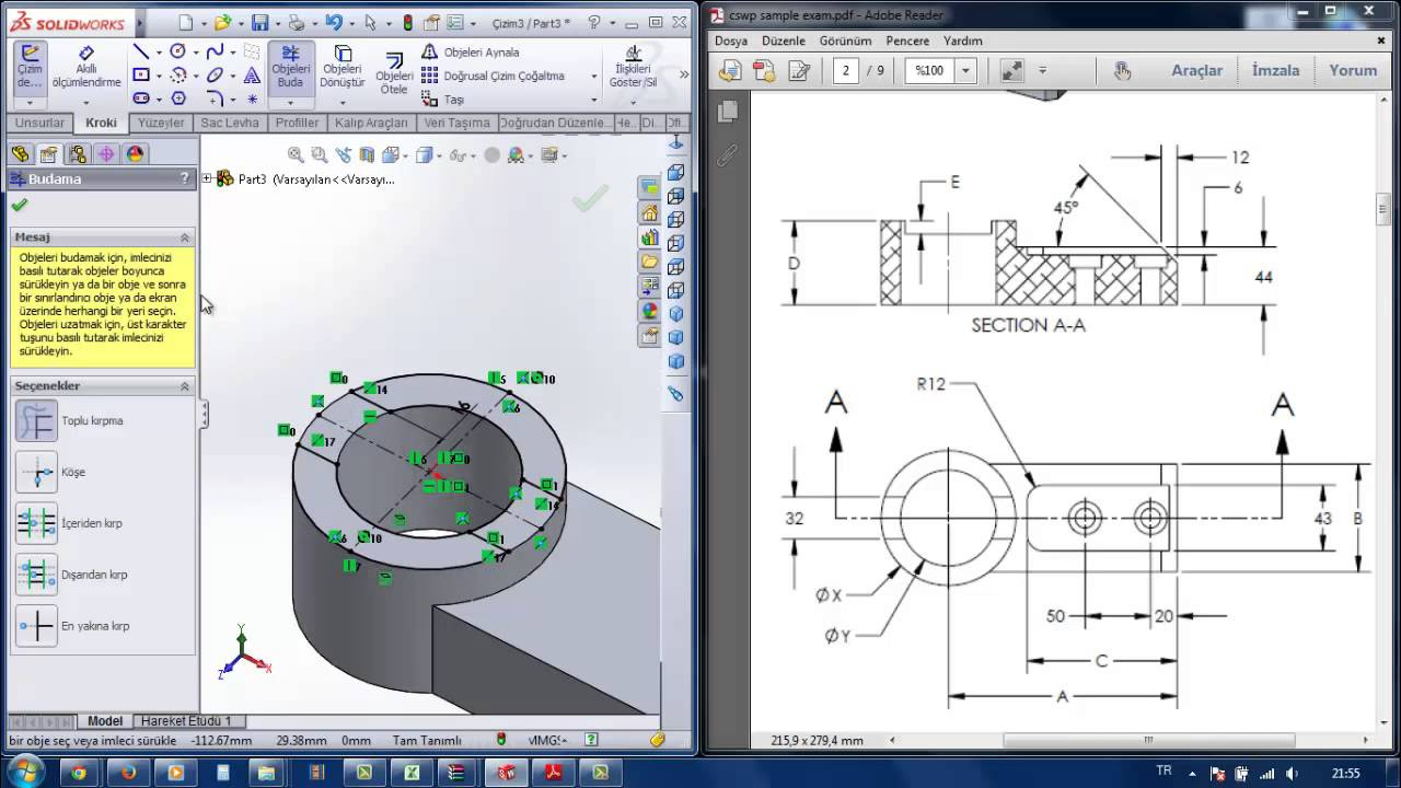 Solution of the Certified SolidWorks Professional Sample Exam - CSWP ...
