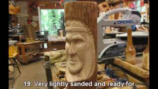 Carving An Indian In Sourwood