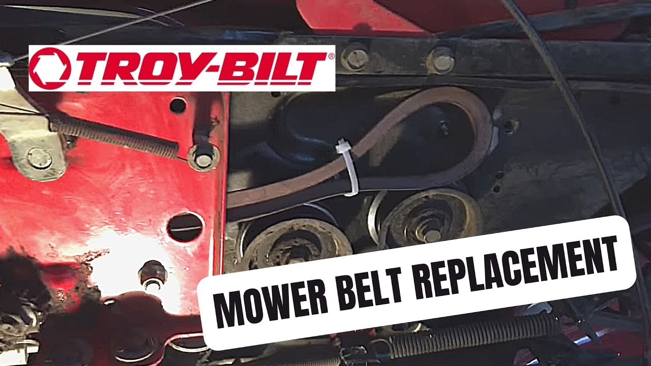 hight resolution of troy bilt super bronco upper and lower drive belt replacement