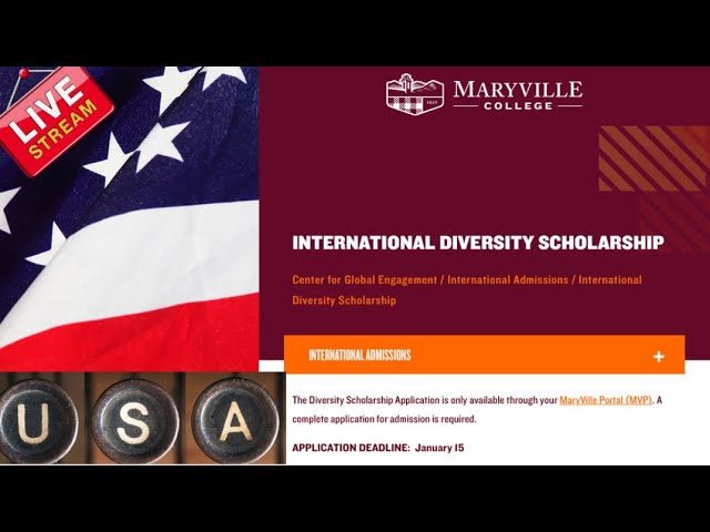 2022-2023 Full-Tuition International Diversity Scholarship (In the USA for international students)