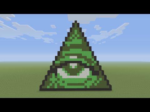 Minecraft Pixel Art - Illuminati Pyramid