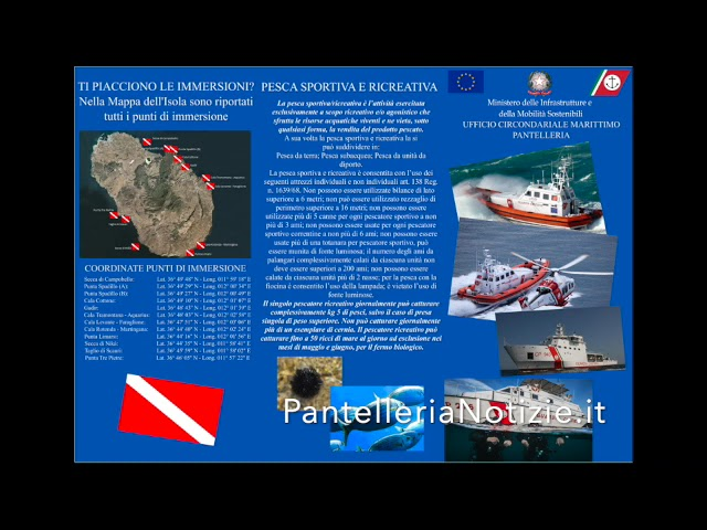 La Capitaneria di Porto di Pantelleria pubblica una brochure informativa 28-07-2021