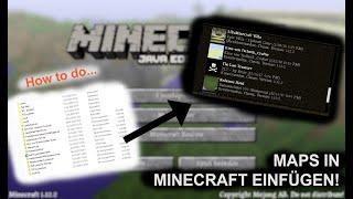Maps in Minecraft einfügen, die einzig Ware Methode! | 2019  Deutsch