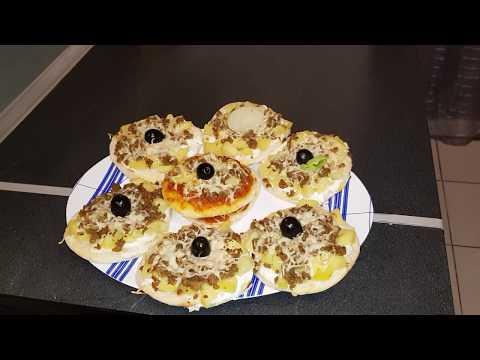 recette-mini-pizza-a-la-crème-fraîche-et-viande-hachée-oumm-mohamed