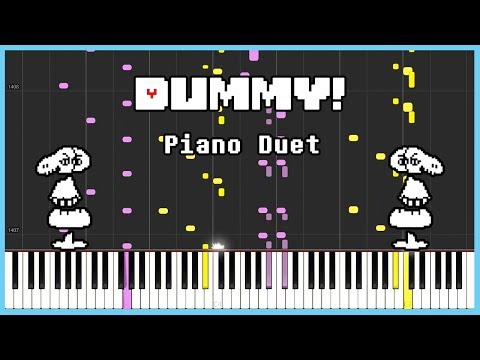Undertale - Dummy! [SYNTHESIA] | Frank & Zach Piano Duets