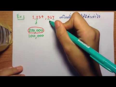 คณิตศาสตร์ป6 เรื่อง ค่าประจำหลักของเลขโดดและการประมาณค่า ตอนที่ 1/4