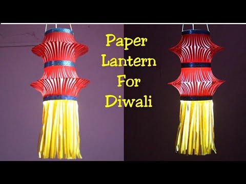 Kandil making  Paper lantern making  How to make Kandil for Diwali decoration  Paper lantern