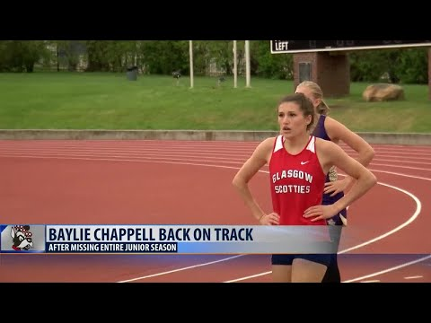 Back on track: Glasgow's Baylie Chappell outrunning the competition after health scare