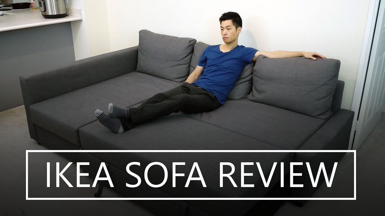Eckbettsofa  IKEA FRIHETEN Sofa Bed Review - YouTube