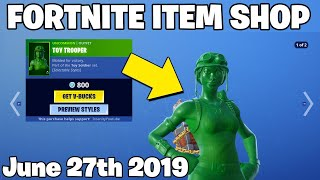 'NEW' TOY TROOPER SKIN! - Magasin d'objets le 26 juin (Fortnite Battle Royale Livestream)