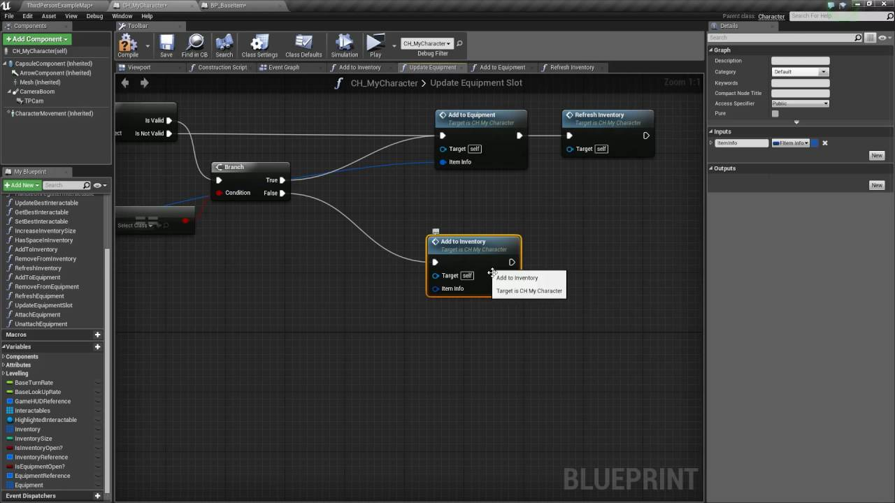 Unreal engine 4 equipment system part 6 adding functionality to unreal engine 4 equipment system part 6 adding functionality to the character part 21 malvernweather Images