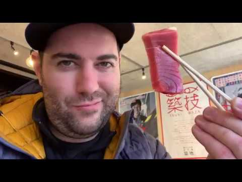 Tsukiji Fish Market On A Guided Tour In Tokyo, Japan