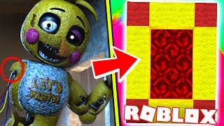 HOW TO MAKE A PORTAL TO THE FNAF RETURN TO THE SCENE DIMENSION - ROBLOX FIVE NIGHTS AT FREDDY'S 3