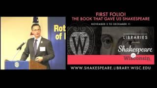 Joshua Calhoun:  The First Folio Exhibit