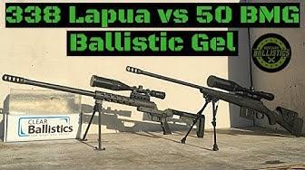 338 Lapua vs 50 BMG vs Ballistic Gel