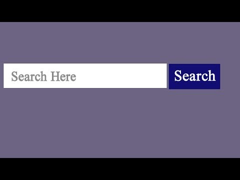 How To Create Search Box Using Html And Css?