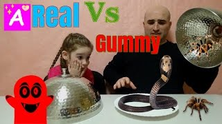 Real Food VS Gummy Food! Gross Giant Candy Challenge - Best Chef Granny Edition