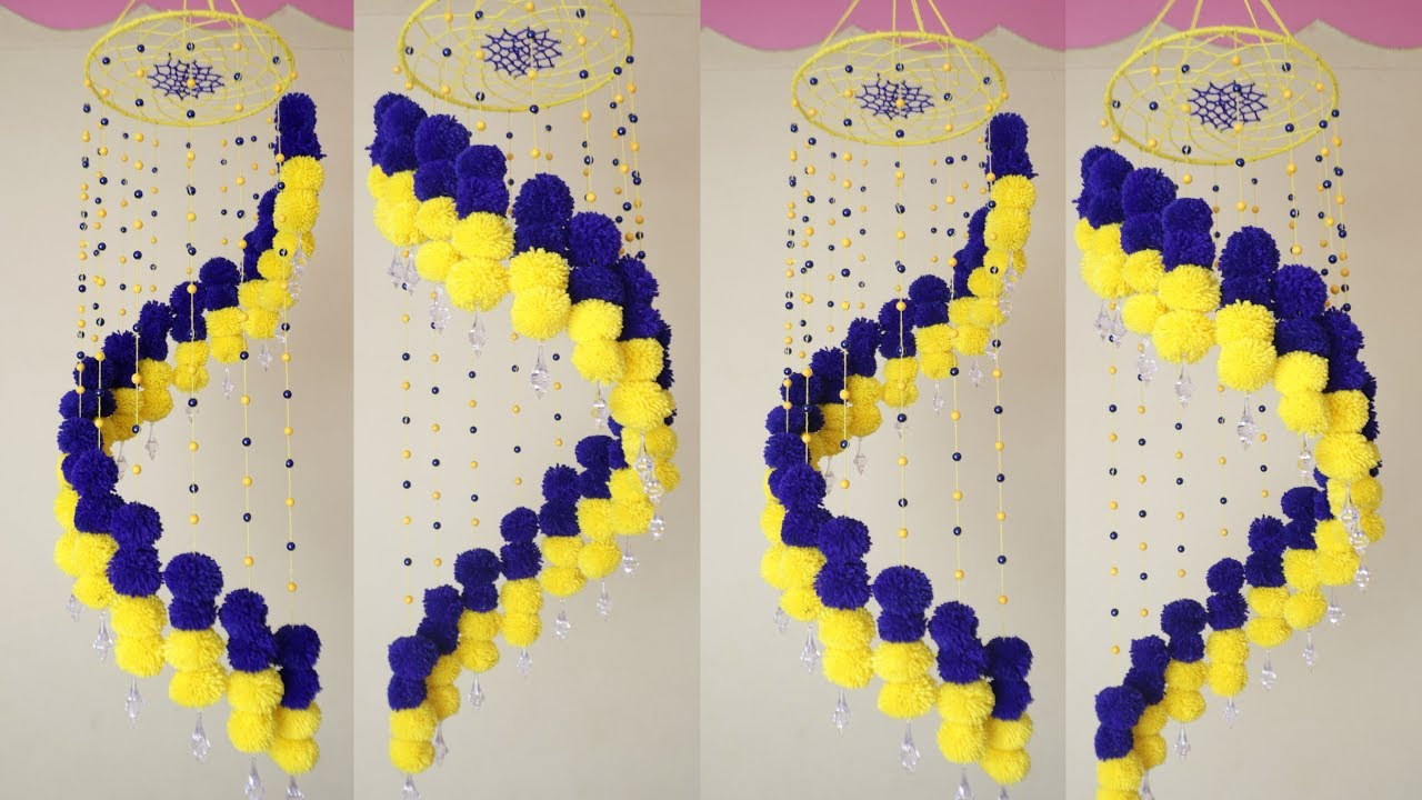 Easy Diy Woolen Wall Hanging Home Decoration Idea