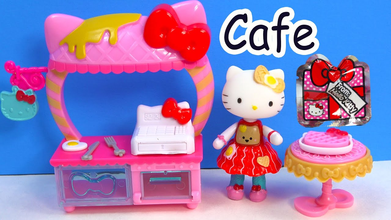 Hello Kitty Toy Food : Hello kitty breakfast cafe playset mini doll play food set