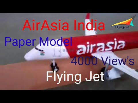 Papercraft AirAsia India First Paper Model of Airbus A320